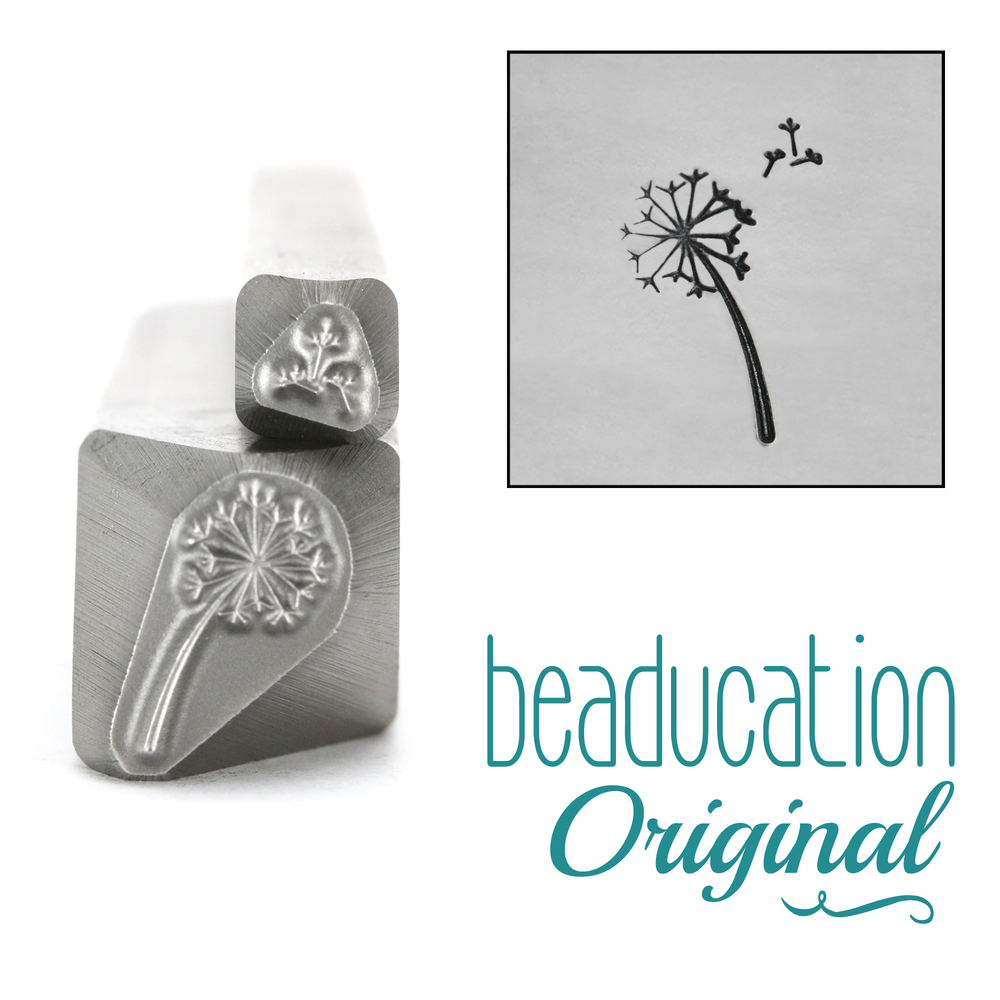 Metal Stamping Tools Dandelion & Fluff Flower Metal Design Stamps, 11mm - Beaducation Original